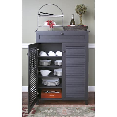 Porch & Den Rocheblave Espresso Wood Tall Multi-use Cabinet
