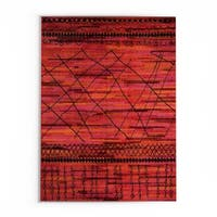 Pine Canopy Aconite Tribal Orange/ Pink Area Rug - 9'9' x 12'2'