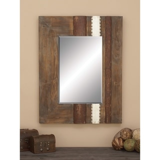 Link to Carbon Loft Sax Rustic Wall Mirror Similar Items in Mirrors