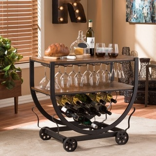 Link to Carbon Loft Cohn Industrial Dark Brown Cart Similar Items in Home Bars
