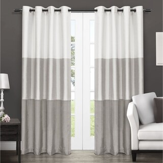 Havenside Home Rohoboth Striped Window Curtain Panel Pair with Grommet Top