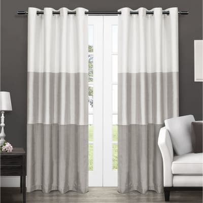 Porch & Den Ocean Striped Window Curtain Panel Pair with Grommet Top