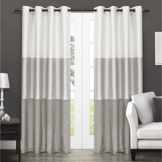 Link to Porch & Den Ocean Striped Window Curtain Panel Pair with Grommet Top Similar Items in Curtains & Drapes