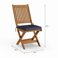 Havenside Home Nahant 2-piece Cinnamon Brown Hardwood Outdoor Folding Chair Set