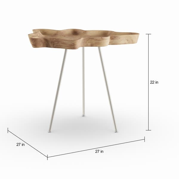 Incredible Shop Carbon Loft Priscilla Abstract Wood Tray Side Table Home Interior And Landscaping Pimpapssignezvosmurscom