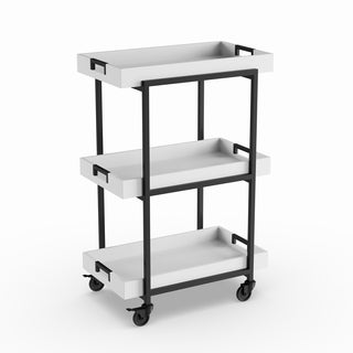 Carson Carrington Alavus Metal and Wood Tray Cart