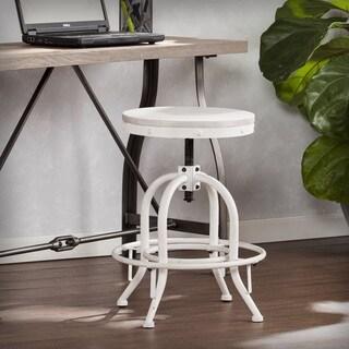Carbon Loft Horstmann Industrial White Adjustable Height Swiveling Stool