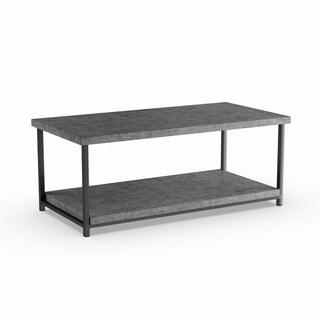 Carbon Loft Shikibu Faux Slate Coffee Table with Storage Shelf