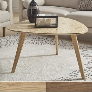 Carson Carrington Sabro Mid-century Triangular Wood Coffee Table