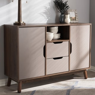 Carson Carrington Sankt Mid-century Brown and Grey Sideboard