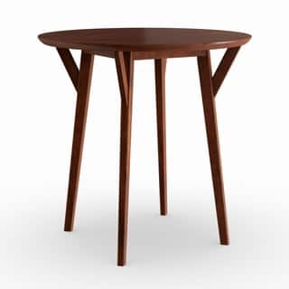Carson Carrington Kaskinen Round Dark Sienna Brown Small Space Dining Table