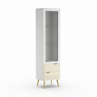 Carson Carrington Kristiansund Glass 2-drawer 1-door China Cabinet