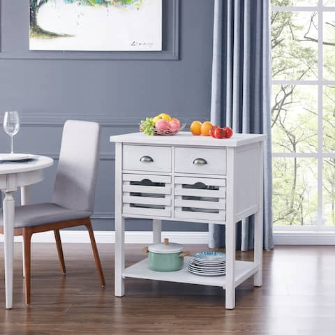 The Gray Barn Over-Harbour White Kitchen Island