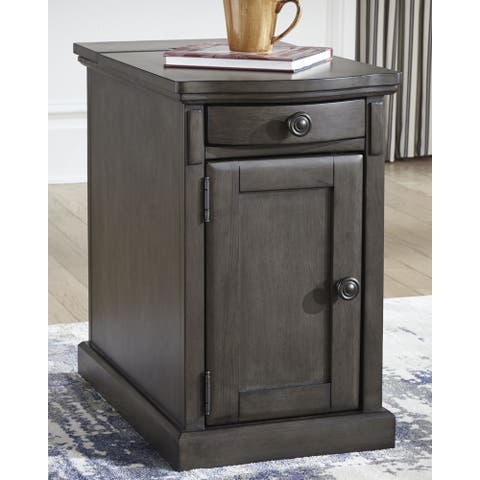 Copper Grove Morvan Gray Chairside End Table