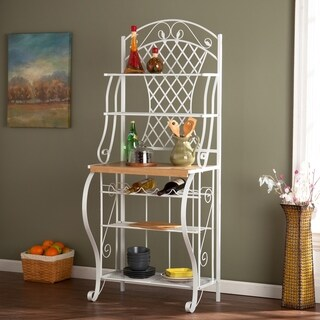 Copper Grove Docherty White Metal Trellis Baker's Rack