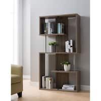Furniture of America Presidio Bookcase with Glass Partitions