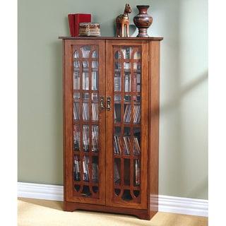 Copper Grove Cache 6-shelf Oak Media Cabinet