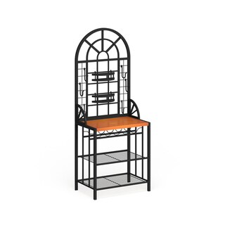 Copper Grove Docherty Black Wood Dome Baker's Rack