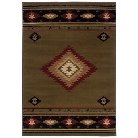 "Copper Grove Allegheny Southwestern Multicolored Area Rug - 6'7"" x 9'6"""