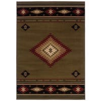 "Pine Canopy Allegheny Southwestern Multicolored Area Rug - 6'7"" x 9'6"""