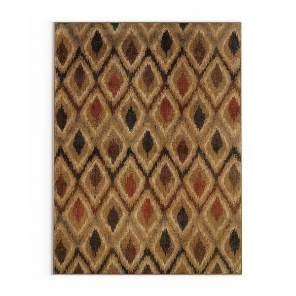 "Pine Canopy Okanogan Gold and Beige Geometric Area Rug - 5'3"" x 7'6"""