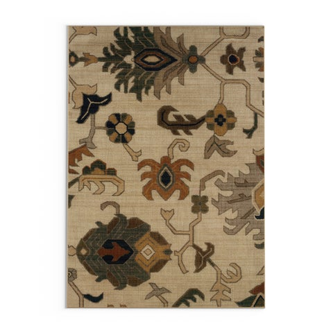 "Copper Grove Wenatchee Ivory and Grey Tribal Runner Rug - 1'10"" x 7'6"" Runner"