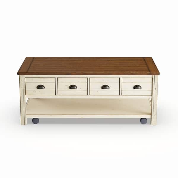 Shop Copper Grove Torngatalabaster Storage Coffee Table With