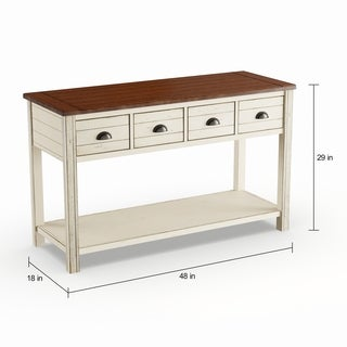 Havenside Home Asilomar Alabaster Rectangular Storage Console Table