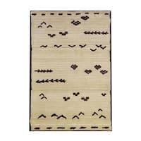 Pine Canopy Chequamegon Tribal Transitional Ivory/Brown Area Rug - 6'7 x 9'1