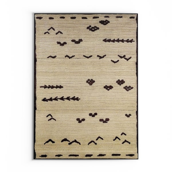 The Curated Nomad Carillo Tribal Ivory/Brown Area Rug - 7'10' x 10'10'