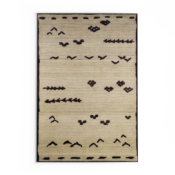 """Pine Canopy Chequamegon Tribal Ivory/ Brown Area Rug - 9'9"""" x 12'2"""""""