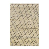 Carbon Loft Joe Tribal Ivory/ Brown Area Rug - 4' x 6'9'