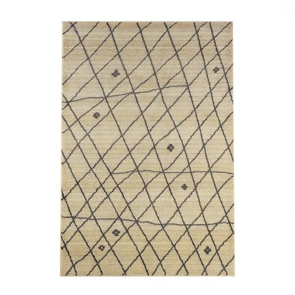 Carbon Loft Joe Tribal Ivory/ Brown Area Rug - 7'10' x 10'10'