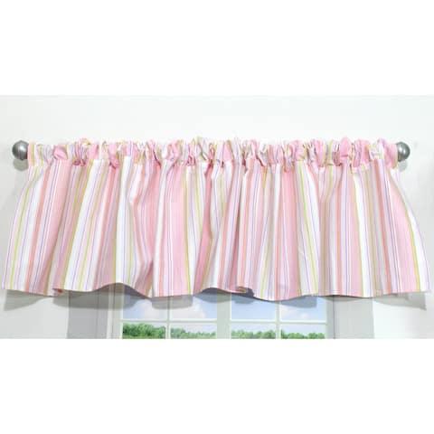 Pink Stripe Window Valance