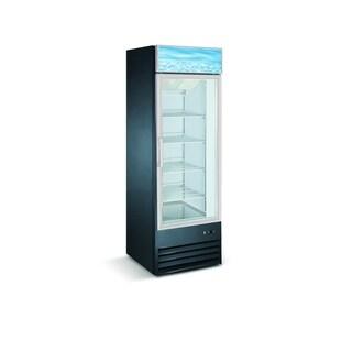 "EQ Kitchen Line Black Commercial 1-Glass Door Reach-In Freezer, 27.2""L x 26.2""W x 80.3""H"
