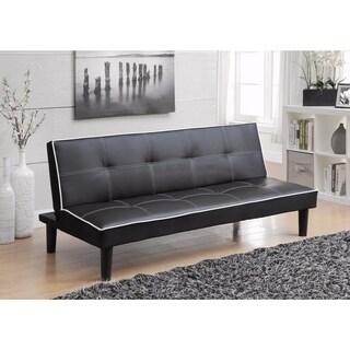 Contemporary Sofa Bed, Black