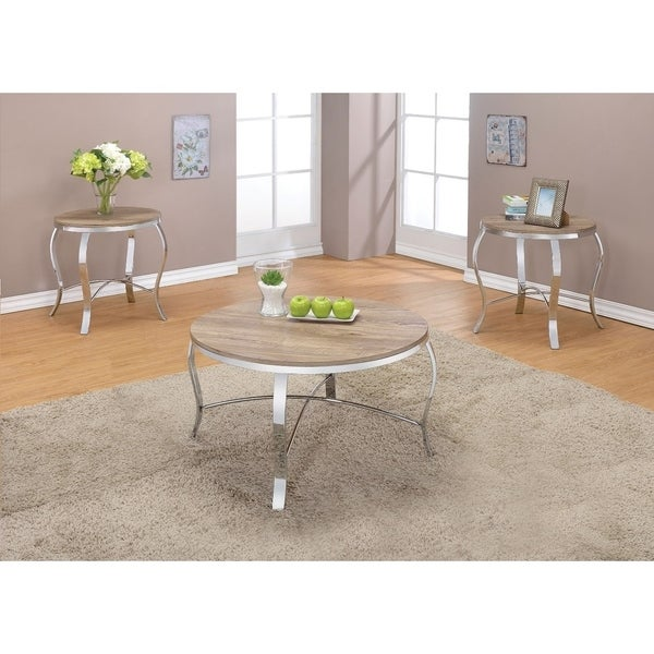 Shop Metal Amp Wooden 3 Piece Pack Coffee End Table Set