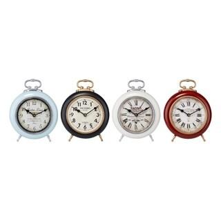 Vintage look Desk Clocks Assortment of 4 Multicolor