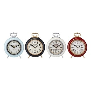 Vintage look Desk Clocks Assortment of 4 Multicolor