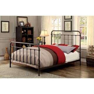 Metal Full Size Platform Bed with Headboard & Footboard, Deep Bronze