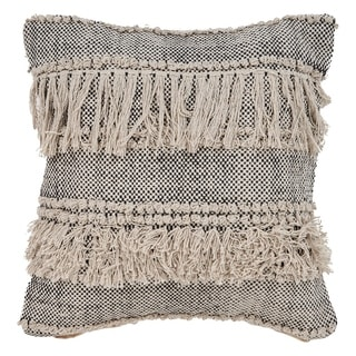 LR Home Gray Overtufted Farmhouse Indoor Throw Pillow 20 inch