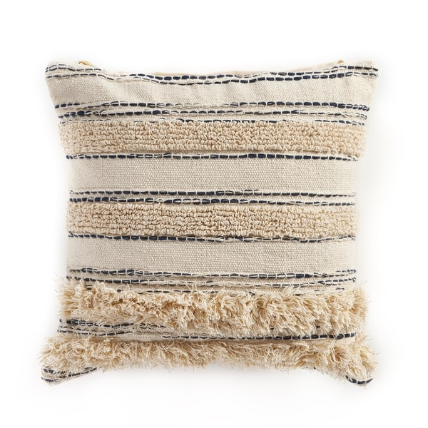 LR Home Gold Thread Luxury Indoor Throw Pillow 20 inch