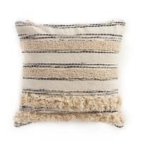 "LR Home Zanthia Black/Natural Streak Indoor Throw Pillow ( 20"" x 20"" )"