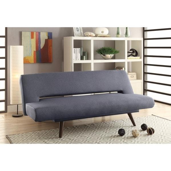 Shop Mid Century Modern Adjustable Sofa Bed Gray Free Shipping