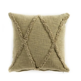 LR Home Carlton Rustic Olive Indoor Cotton Throw Pillow 20 inch