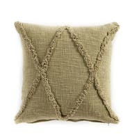 "LR Home Carlton Olive Green Diamonds Indoor Throw Pillow ( 20"" x 20"" )"