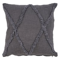 LR Home Carlton Charcoal Diamonds Indoor Throw Pillow 20 inch