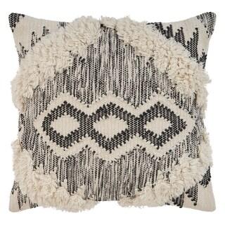 "LR Home Bronco Ivory/Black ZigZag Indoor Throw Pillow ( 20"" x 20"" )"