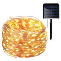 Solar Powered String Lights, 200 LED Copper Wire Lights