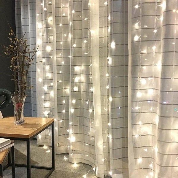 Shop 300 Led Window Curtain String Light Christmas On